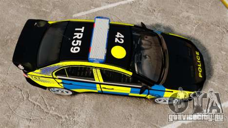 Mitsubishi Lancer Evolution X Uk Police [ELS] для GTA 4 вид справа