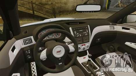 Subaru Impreza 2010 для GTA 4 вид сбоку