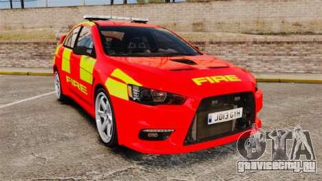 Mitsubishi Lancer Evo X Fire Department [ELS] для GTA 4