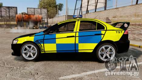 Mitsubishi Lancer Evolution X Uk Police [ELS] для GTA 4 вид слева