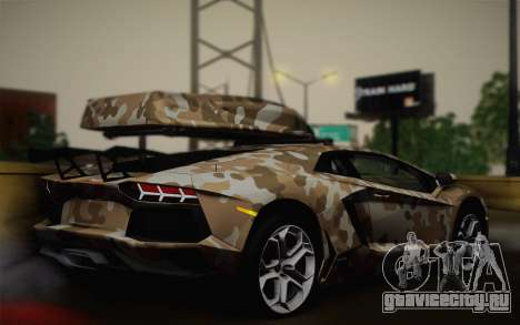 Lamborghini Aventador LP 700-4 Camouflage для GTA San Andreas вид слева