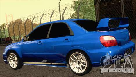 Subaru WRX STI 2004 для GTA San Andreas вид слева