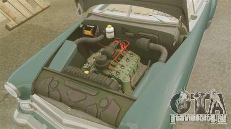Cadillac Series 62 1949 для GTA 4 вид изнутри