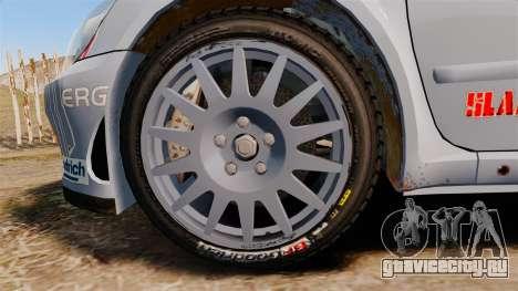 Peugeot 307 WRC для GTA 4 вид сзади