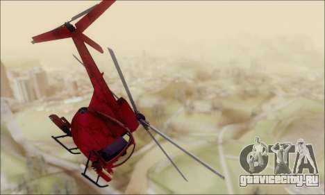 Buzzard Attack Chopper из GTA 5 для GTA San Andreas вид справа
