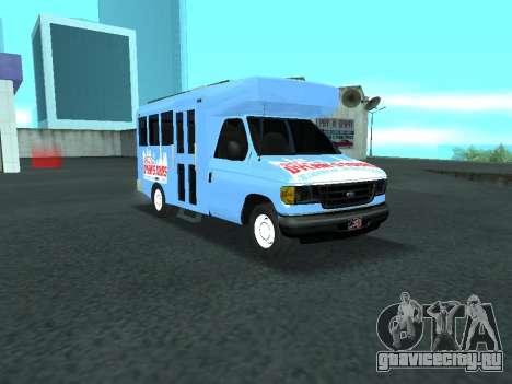 Ford Shuttle Bus для GTA San Andreas вид изнутри