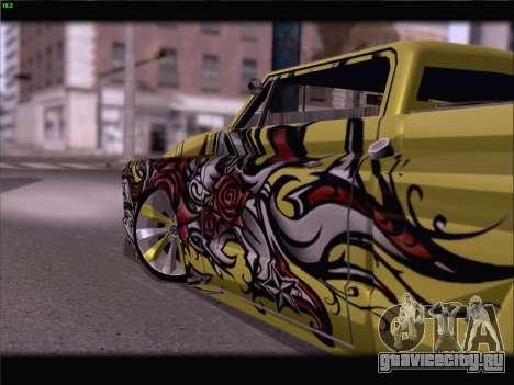 New Slamvan для GTA San Andreas вид сверху