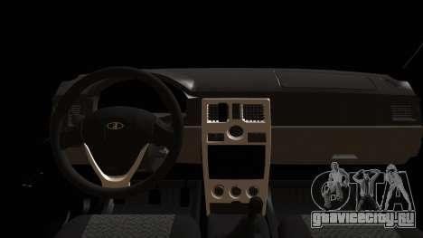 ВАЗ 2170 Приора для GTA San Andreas вид изнутри