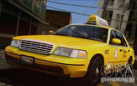 Ford Crown Victoria LA Taxi для GTA San Andreas вид сбоку