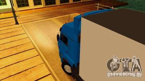 КамАЗ 5410 для GTA San Andreas вид изнутри