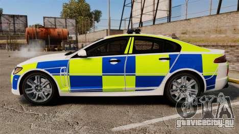 Jaguar XFR 2010 British Police [ELS] для GTA 4 вид слева