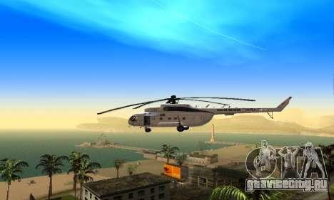 Ми 8 UN (ООН) для GTA San Andreas вид сзади слева