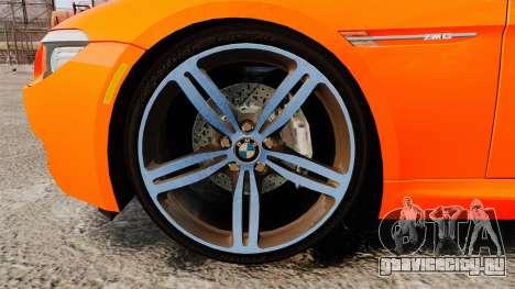 BMW M6 для GTA 4 вид сзади