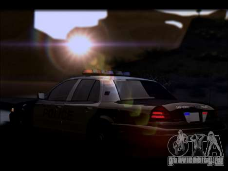 Ford Crown Victoria 2005 Police для GTA San Andreas вид снизу