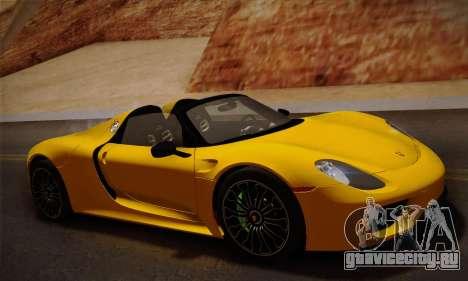 Porsche 918 Spyder 2014 для GTA San Andreas вид слева