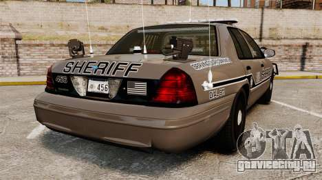 Ford Crown Victoria 2008 Sheriff Traffic [ELS] для GTA 4 вид сзади слева