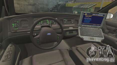Ford Crown Victoria 1999 LCPD для GTA 4 вид сзади