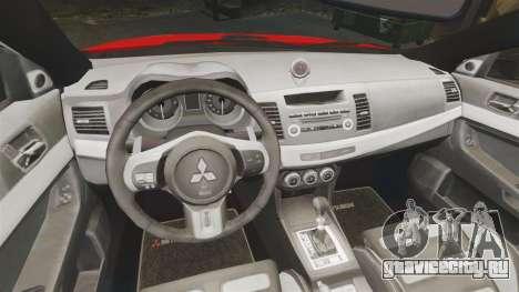 Mitsubishi Lancer Evo X Fire Department [ELS] для GTA 4 вид изнутри