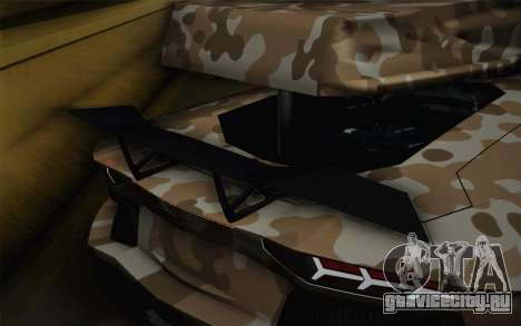 Lamborghini Aventador LP 700-4 Camouflage для GTA San Andreas вид сзади