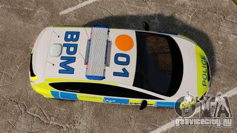 Seat Cupra Metropolitan Police [ELS] для GTA 4 вид справа