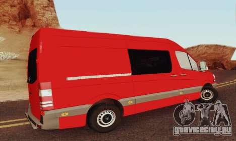Mersedes-Benz Sprinter для GTA San Andreas вид изнутри