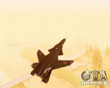 Су-47 Беркут v1.0 для GTA San Andreas вид сверху