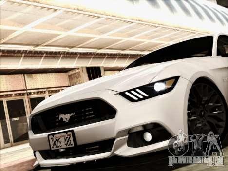 Ford Mustang GT 2015 v2 для GTA San Andreas вид сзади слева