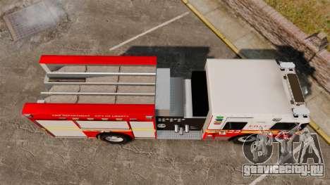 Firetruck FDLC [ELS] для GTA 4 вид справа