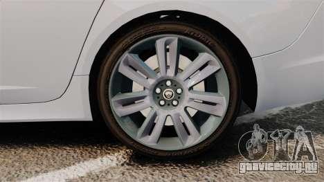Jaguar XFR 2010 Police Unmarked [ELS] для GTA 4 вид сзади
