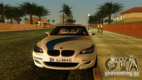 BMW M5 (E60) 2009 Nurburgring Ring Taxi для GTA Vice City вид изнутри