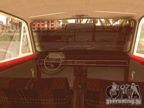 Fiat 124 для GTA San Andreas вид изнутри