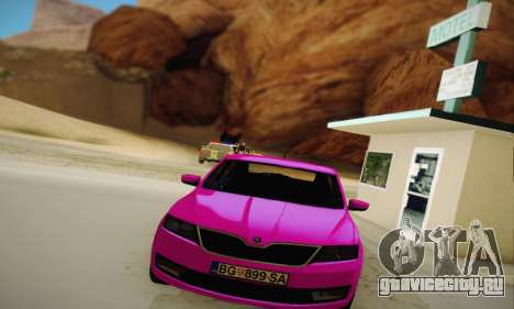 Skoda Rapid 2014 для GTA San Andreas вид сзади
