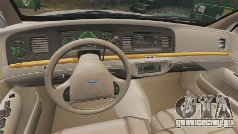 Ford Crown Victoria 1999 для GTA 4 вид сзади