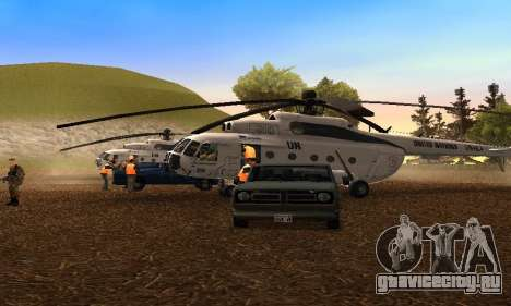 Ми 8 UN (ООН) для GTA San Andreas вид слева