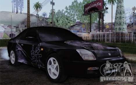Honda Prelude 2.2 VTi DOHC VTEC 1996 для GTA San Andreas вид сбоку