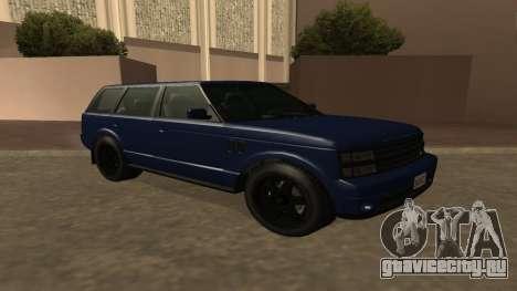 Baller GTA 5 для GTA San Andreas вид сзади