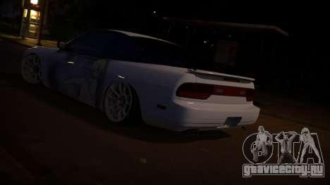 Nissan 180sx Itasha для GTA San Andreas вид сзади слева