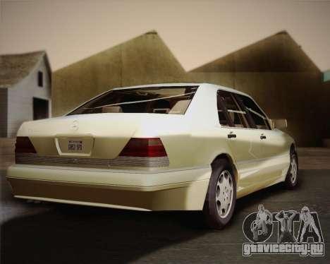 Mercedes-Benz S600 V12 Custom для GTA San Andreas вид сзади