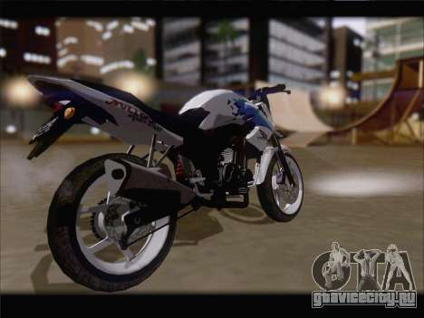 Honda CB150R StreetFire для GTA San Andreas вид сзади слева