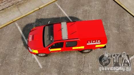Toyota Hilux London Fire Brigade [ELS] для GTA 4 вид справа