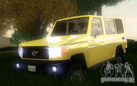 Toyota Land Cruiser Machito 2013 6Puertas 4x4 для GTA San Andreas