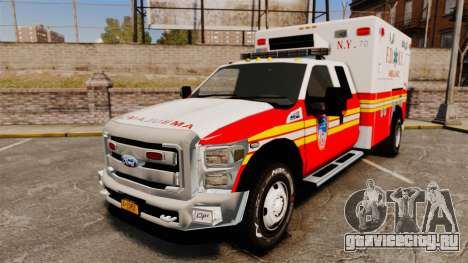 Ford F-350 2013 FDNY Ambulance [ELS] для GTA 4