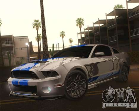 Ford Shelby GT500 2013 для GTA San Andreas вид снизу