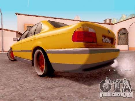 BMW 730i для GTA San Andreas вид сзади слева