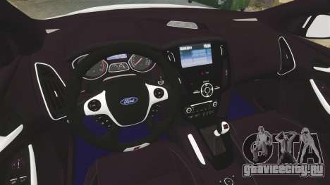 Ford Focus 2013 Uk Police [ELS] для GTA 4 вид изнутри