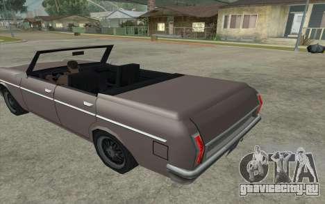 Perennial Cabriolet для GTA San Andreas вид слева