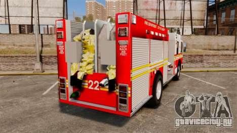 Firetruck FDLC [ELS] для GTA 4 вид сзади слева