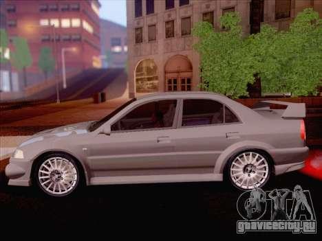 Mitsubishi Lancer Evolution VI LE для GTA San Andreas вид сзади слева