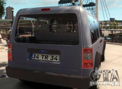 Ford Transit Connect для GTA 4 вид слева