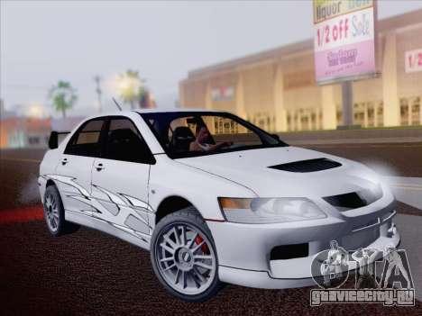 Mitsubishi Lancer Evo IX MR Edition для GTA San Andreas вид сверху